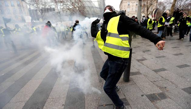 Este sábado, 8 de diciembre de 2018, los chalecos amarillos volvieron a manifestarse en París contra las políticas del presidente, Emmanuel Macron.