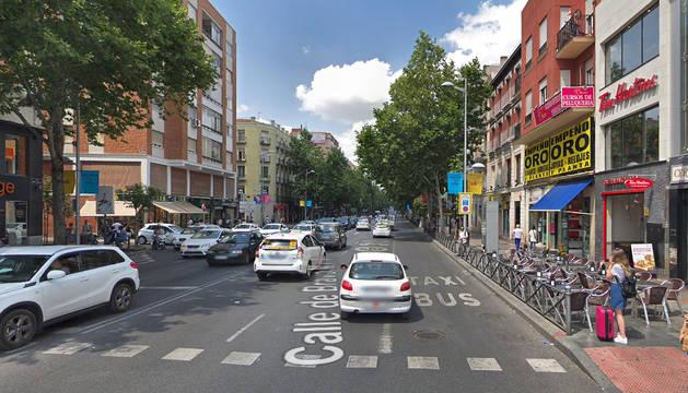 Acceso a la calle Bravo Murillo desde la rotonda de Cuatro Caminos en Madrid.