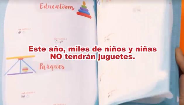 Una imagen del vídeo de Cruz Roja Navarra con la campaña 'Sus Derechos en Juego'.