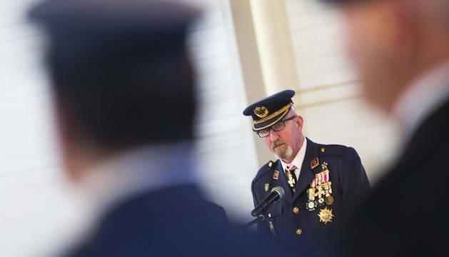 Francisco José Briones Ruiz, durante su discurso.
