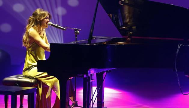 Amaia Romero en los III Premios Navarra Televisión