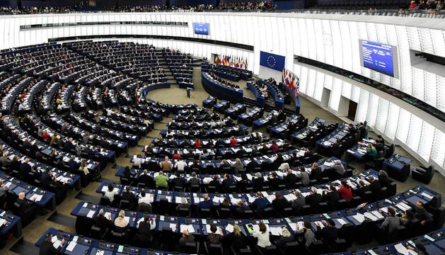 Foto de una votación durante el pleno del Parlamento Europeo en Estrasburgo.