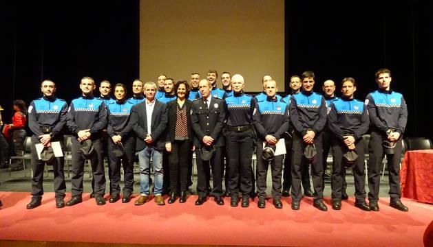 Aprobados los nombramientos de cuatro nuevos inspectores y veinte nuevos agentes de la Policía Municipal de Pamplona