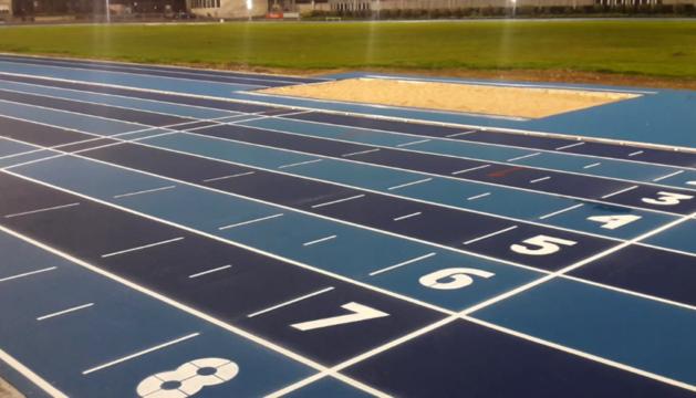 Aspecto de la nueva pista de atletismo de Larrabide.