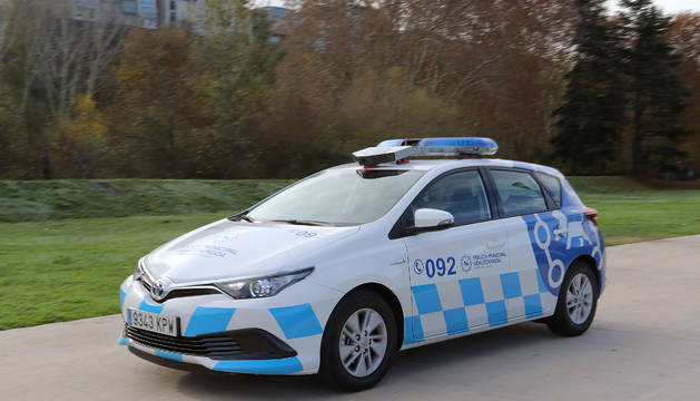 El vehículo lector de matrículas de la Policía Municipal en Pamplona