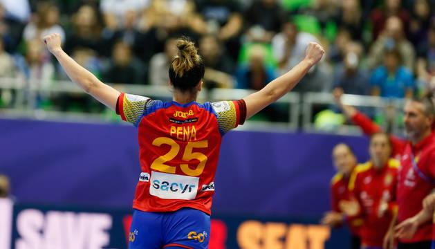 Nerea Pena, mejor jugadora del España-Croacia, ha disputado su cuarto Europeo consecutivo en Francia.