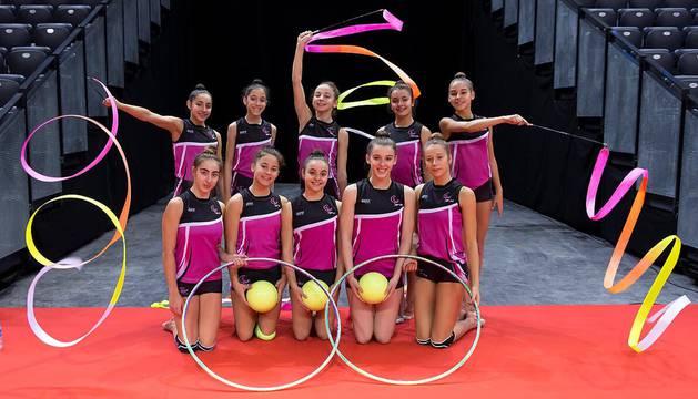 Equipos participantes en el Campeonato de España de Gimnasía Rítmica conjuntos 2018