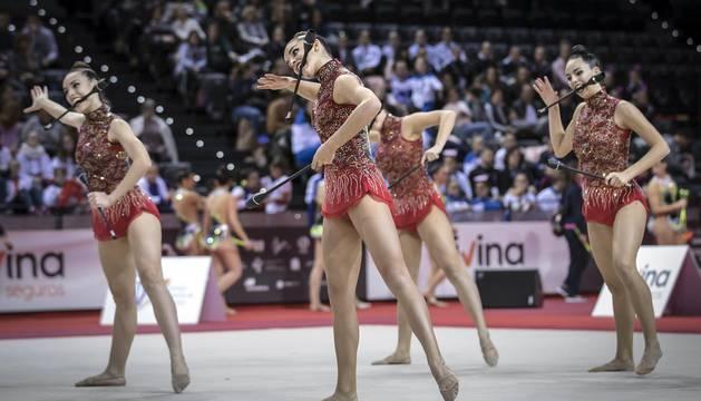 Los clubes se han exhibido en el primer pase en el Navarra Arena.