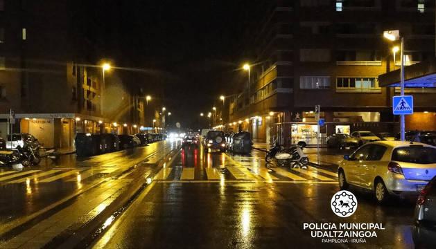 Herida leve una joven de 18 años en un atropello en Pamplona
