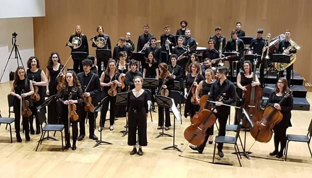 La Joven Orquesta de Pamplona, durante uno de sus conciertos.
