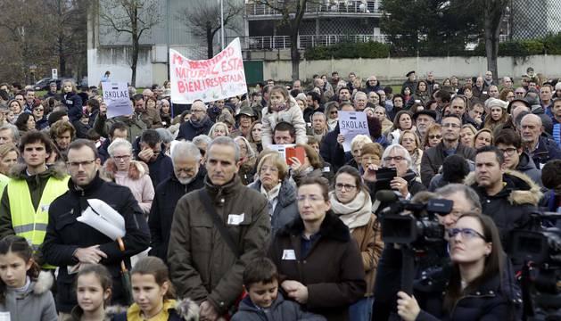 Manifestación contra Skolae
