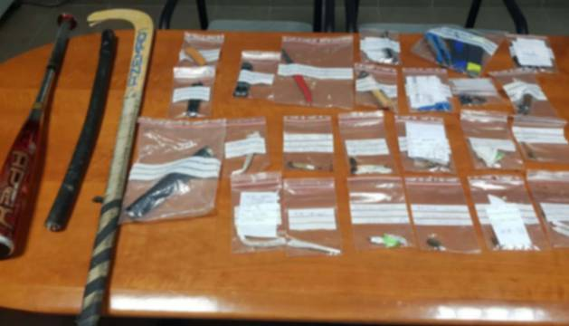 Armas incautadas por la Policía Foral y al Guardia Civil este fin de semana