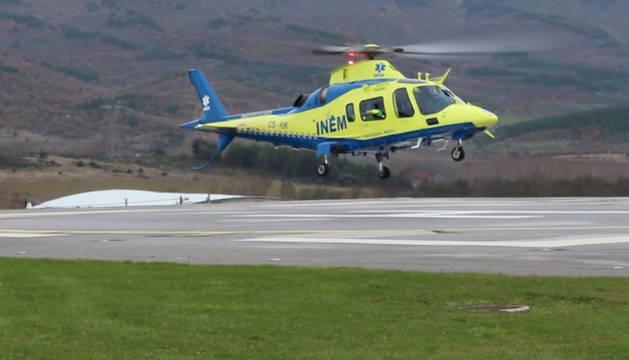 Imagen de uno de los helicópteros de Emergencias de Portugal.