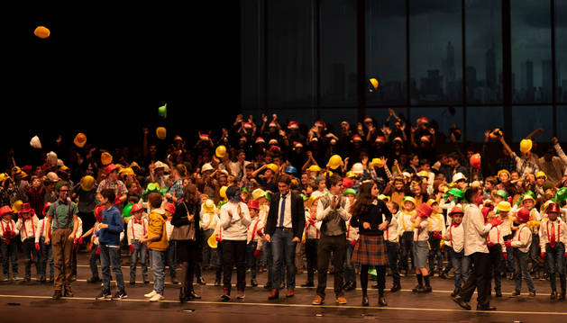 Los alumnos de Irabia-Izaga, en un momento del festival.