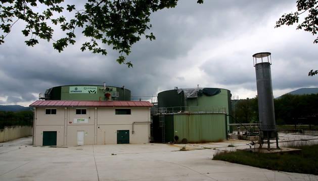 Imagen de la planta de biogás, clausurada a los cinco años de su inauguración en Iraizotz.