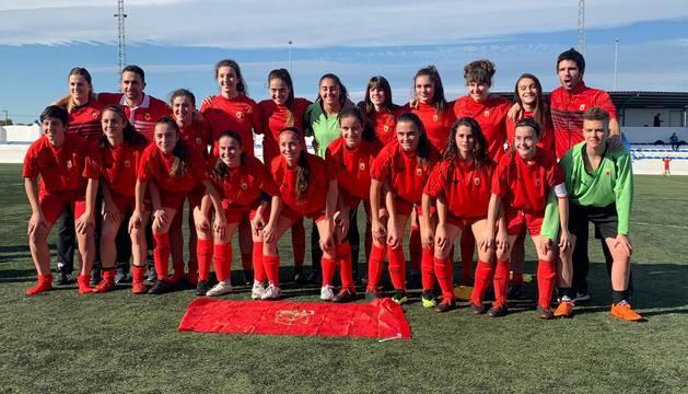 La selección navarra sub-17 en Murcia.