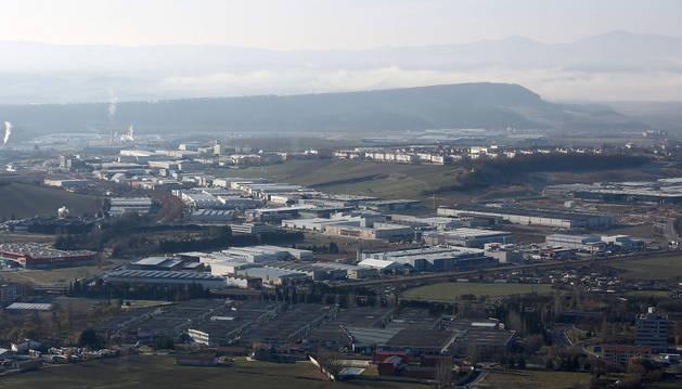 Vista del polígono industrial de Arazuri-Orkoien.