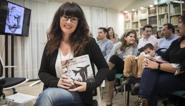Belén Galindo en el Club de Lectura de Diario de Navarra