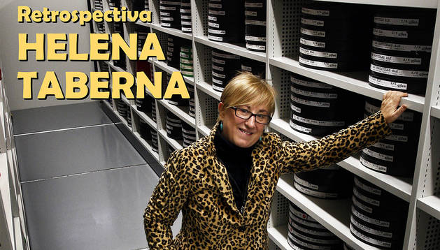 Cartel del ciclo sobre Helena Taberna en la Filmoteca de Navarra.