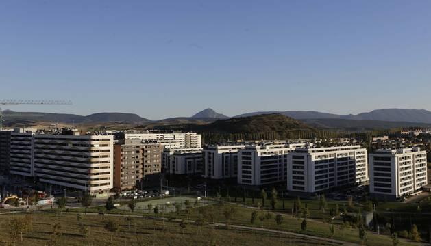Bloques de viviendas en Erripagaña, uno de los desarrollos de nueva construcción.