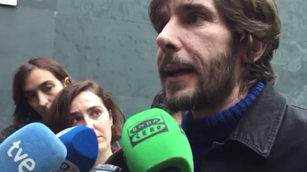 Mikel Buil, tras su expulsión del grupo parlamentario de Podemos-Orain Bai