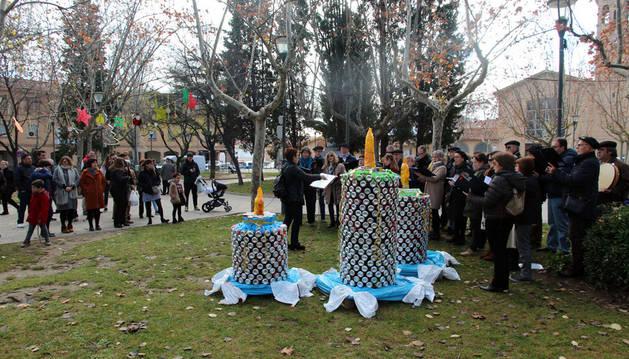Tudela inaugura sus adornos navideños alternativos y sostenibles