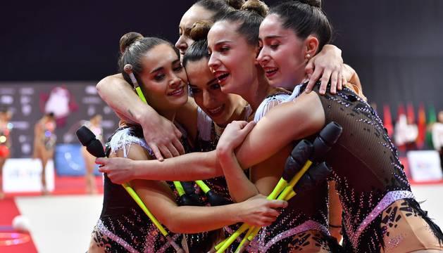 Lagunak, en el Campeonato de España de gimnasia rítmica por conjuntos