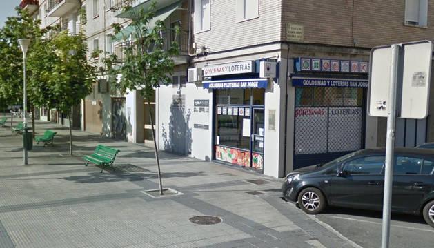 Punto de venta en San Jorge (Pamplona), donde se ha vendido un décimo de un quinto premio.