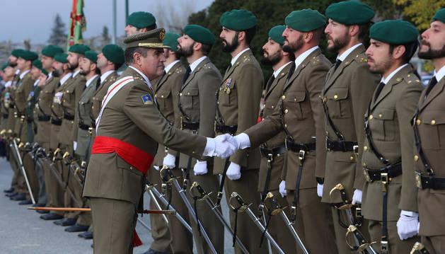 Imagen de archivo de la celebración del día de la patrona de Infantería en Aizoain.