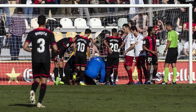 Imágenes del encuentro de la jornada 19 disputado en el Municipal de Reus y que finalizó con triunfo rojillo con un gol de Juan Villar.