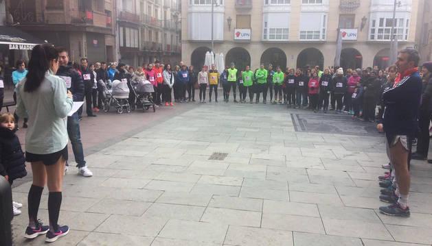 Concentración en Peralta en protesta por la muerte de Laura Luelmo.