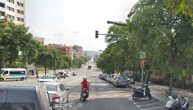 Paseo Santa Coloma de Barcelona, donde ocurrió el tiroteo.