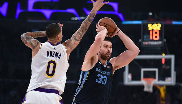 Marc Gasol, en el partido contra Los Angeles Lakers.