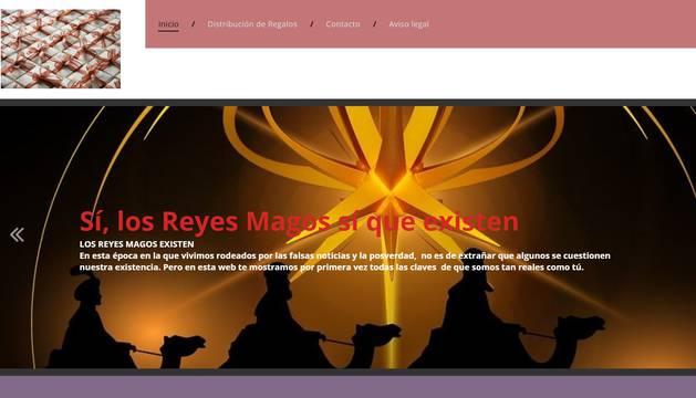 Un pantallazo de la 'home' de la web www.losreyesmagosexisten.com.