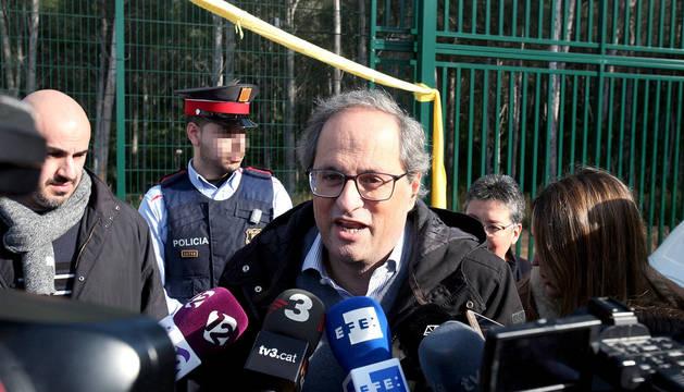 Torra, tras visitar a la expresidenta del Parlament, Carme Forcadell, en el Centro Penitenciario de Mas Enric.