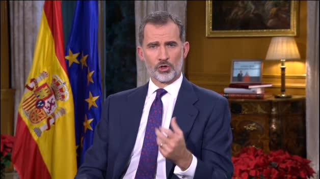 """Felipe VI: """"La convivencia exige respeto a nuestra Constitución"""""""