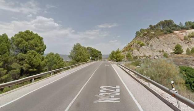 Carretera donde se ha producido el accidente con dos jóvenes muertos en Jaén.