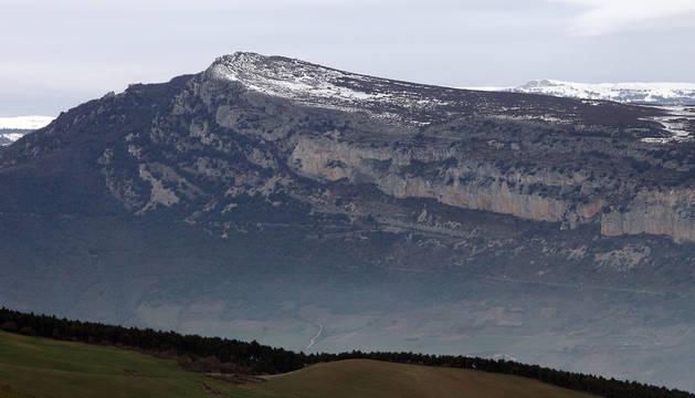 Vista de Etxauri desde el Perdón.