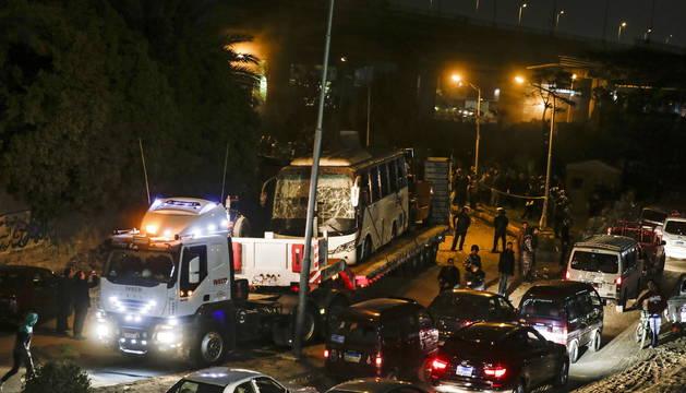 El Gobierno egipcio ha señalado que el autobús no utilizó la ruta recomendada por las fuerzas de seguridad.