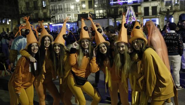 Disfraces en la Nochevieja de Pamplona 2018
