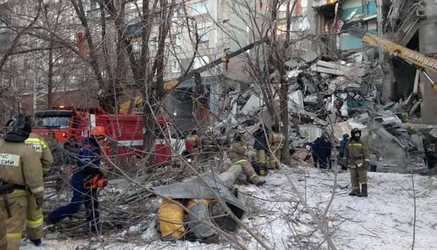 Derrumbe de un edificio en los Urales