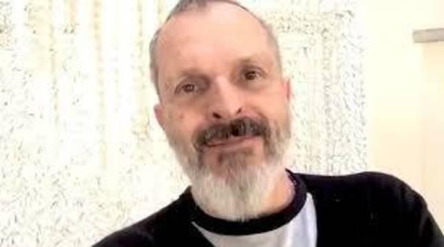 Miguel Bosé, en una captura de su vídeo.