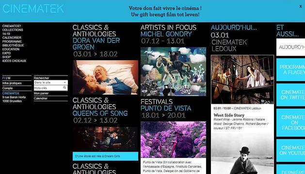 Punto de Vista, en un lugar destacado de la web de la Cinematek.