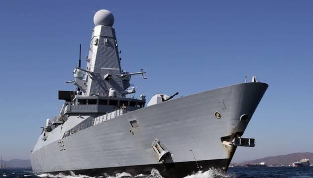Un buque de la Armada británica.