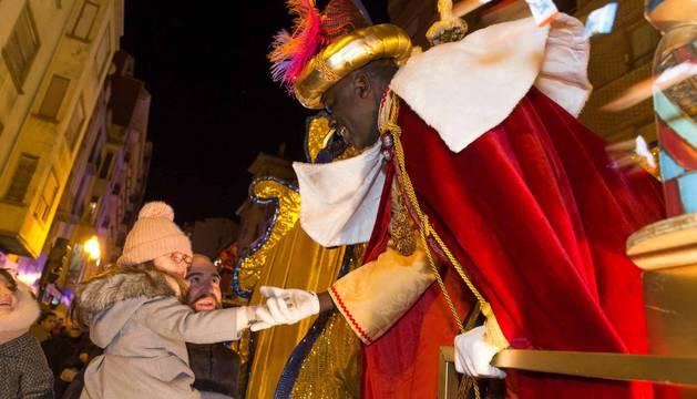 Fotos de la cabalgata de los Reyes Magos en Tudela