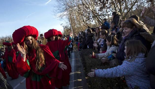 Fotos de la llegada de los Reyes Magos a Pamplona y de la cabalgata