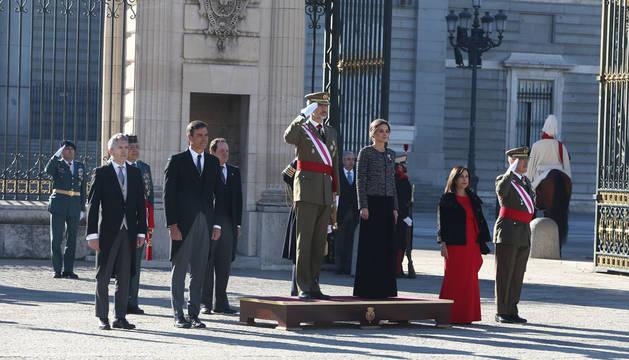 Los reyes en la Pascua Militar.