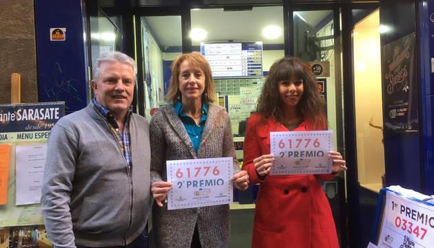 La administración de San Nicolás en Pamplona donde se ha vendido un décimo premiado en el Niño