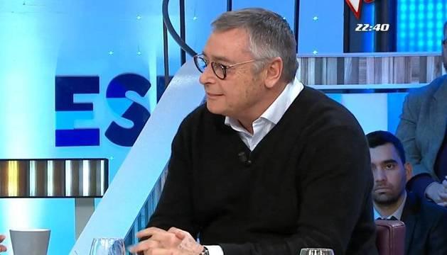 Michael Robinson, en un momento de la entrevista este lunes en 'Espejo Público' (Antena 3).