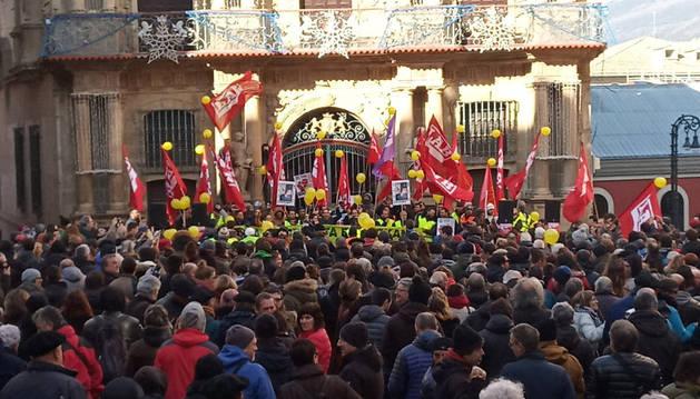 Manifestación de LAB por la situación en Huerta de Peralta.